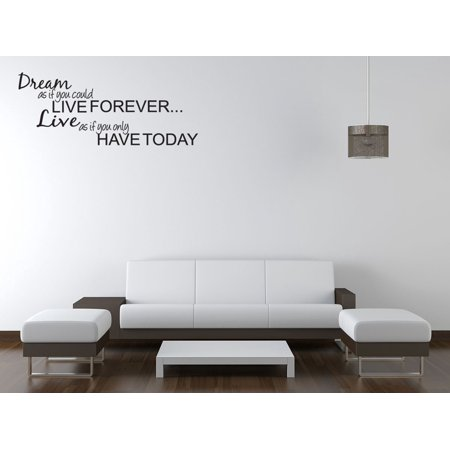 Dream Live Girls Teen Bedroom Vinyl Wall Quote Art Decal Sticker Room Décor V22
