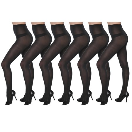 Lightweight Spandex Tights - Isadora 6 Pack Opaque Spandex Tights Set