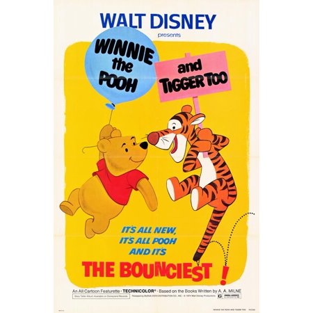 Winnie the Pooh and Tigger Too POSTER Movie Mini Promo