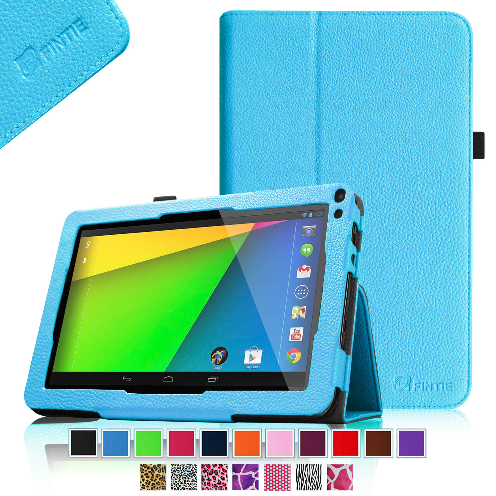 "RCA 9"" Tablet Case - Fintie Premium Leather Cover with Stylus Holder for RCA 9"" Tablet (Model# RCT6691W3), Blue"