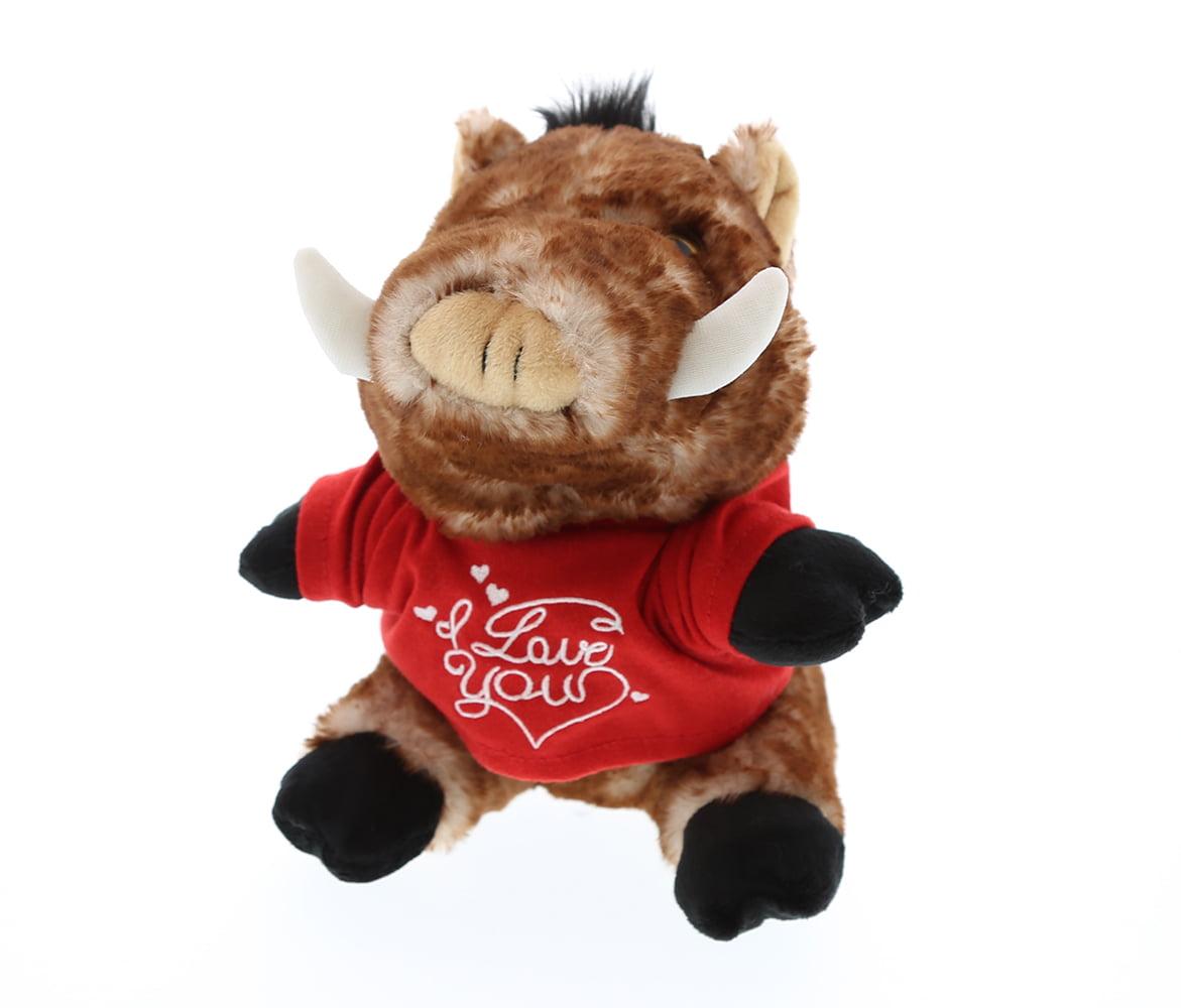 Gifts For Wedding Night: Dollibu Wild Boar I Love You Valentines Stuffed Animal