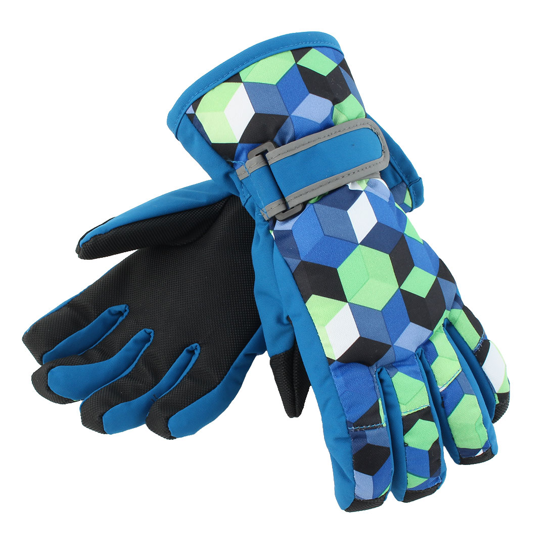 Outdoor Motorcycle Snowmobile Snowboard Ski Gloves Athletic Mittens Teal Blue XS