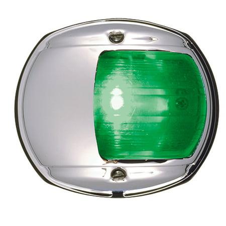 Perko 0170MSDDP1 12V Vertical Mount Chrome Side Light - Green