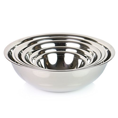Set Of 6  Safepro Mixing Bowls Standard Weight Stainless Steel  Mirror Finish  3 4  11 2  3  4  5  And 8 Qt