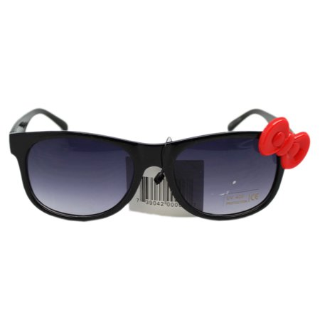 Black Frame Tinted Lens UV 400 Protection Glasses With Red Bow ()