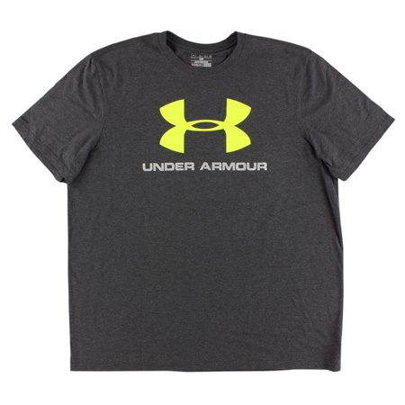 Under armour mens sport style logo t shirt dark grey for Under armour shirts at walmart