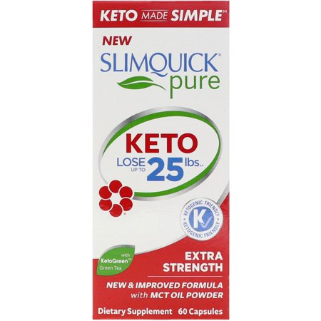 Slimquick Pure Extra Strength Weight Loss Supplement with MCT Oil, 60 Capsules Slimquick Weight Loss