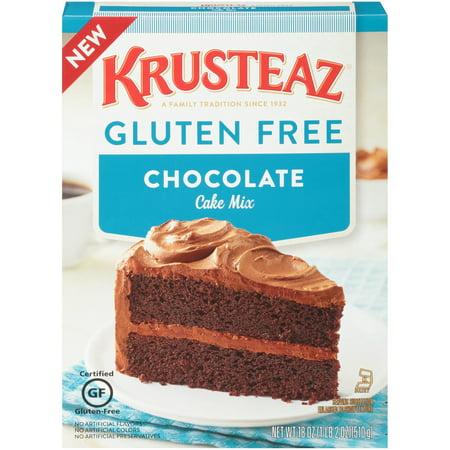 (12 Pack) Krusteaz® Gluten Free Chocolate Cake Mix 18 oz. Box