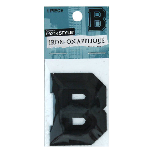 """Next Style Single Embroidery Letter, """"B"""", Black"""
