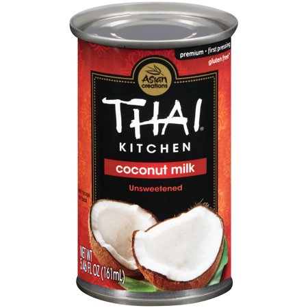 (6 Pack) Thai Kitchen Gluten Free Unsweetened Coconut Milk, 5.46 fl