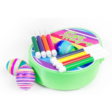 The Original EggMazing Easter Egg Decorator Kit - Includes 8 Colorful Quick Drying Non Toxic Markers - Easter Egg Kit