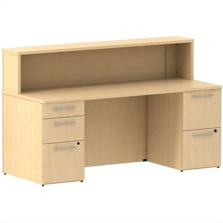 "Bush Business 300 Series 72"" 5 Drawer Reception Desk in Natural Maple - image 1 de 1"
