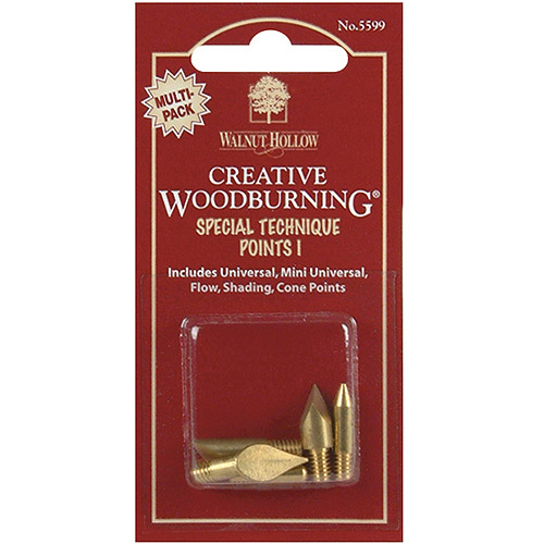 Creative Woodburning Special Technique Points, 5/pkg