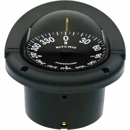 Ritchie HF-742 Helmsman Flush Mount Compass, Black with Black Dial by Generic