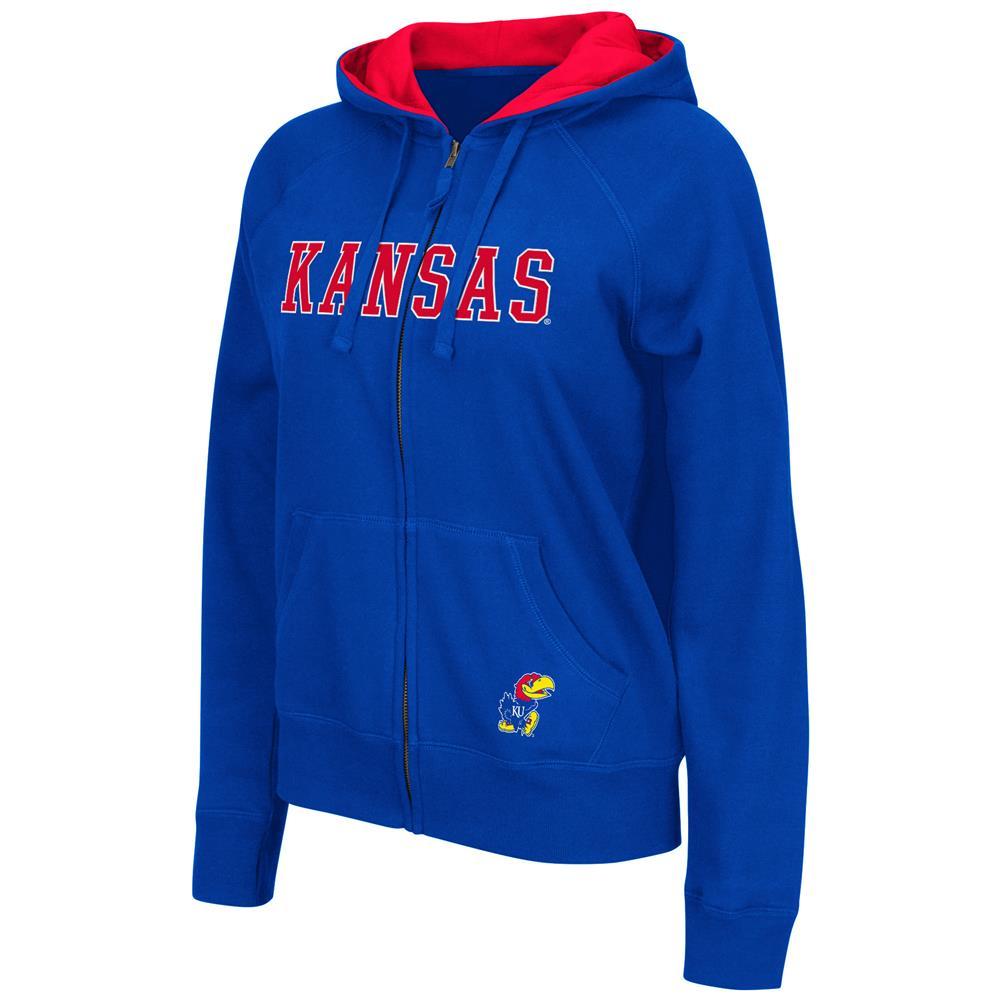 Omega II Women's Full Zip Kansas Jayhawks KU Hoodie