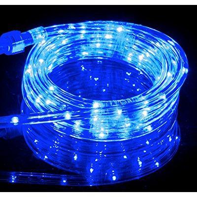 Gentil ... Izzy Creation 10.6ft Blue Led Flexible Rope Lights Kit, Indoor /  Outdoor Lighting,