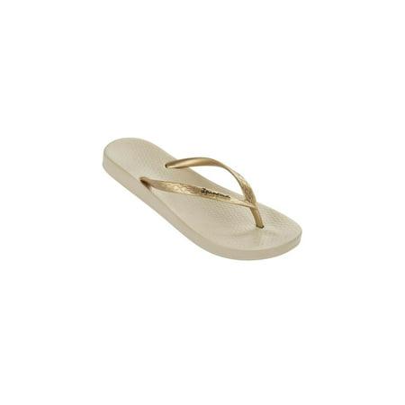 Ipanema Ana Tan Beige Gold Thong Sandal 23097 Beige / 8](Sandal Ipanema)