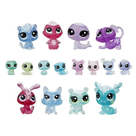 Littlest Pet Shop Frosted Wonderland Pet Pack Toy, Includes 16 Pets Pets Littlest Pet Shop