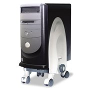 Deluxe Mobile CPU Stand, 12w x 12d x 18h, Gray