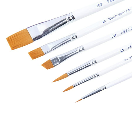 Professional 6pcs Paint Brushes for Artist Acrylic Oil Watercolors Paintings, Nylon Brush