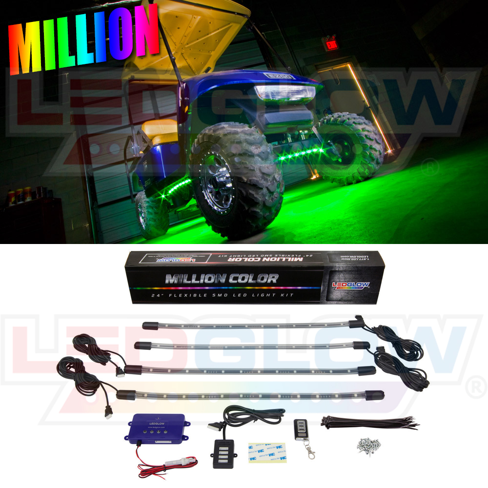 LEDGlow Million Color LED Golf Cart Underbody Underglow L...