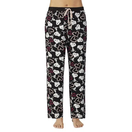 Peanuts Women's and Women's Plus Long Pant with Side Pockets (Peanuts Pajamas)
