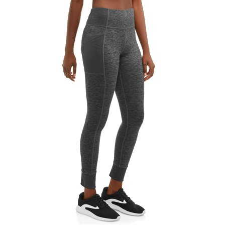Women's Active High Waisted Workout Leggings with Side -
