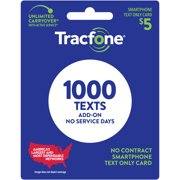 Tracfone $5 Text Only Prepaid Plan (1000 texts) e-PIN Top Up (Email Delivery)