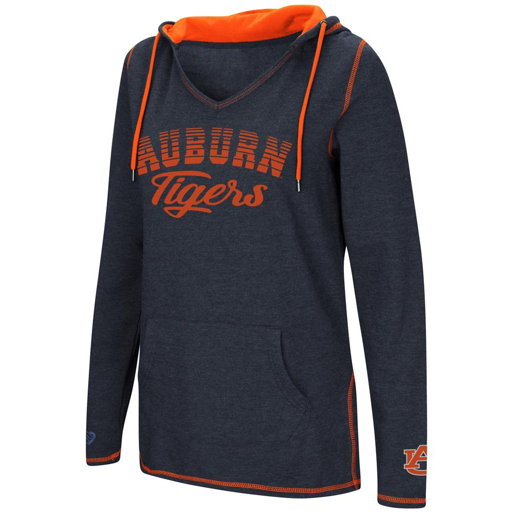 Auburn University Tigers Ladies V-Neck Hoodie Pullover Sweatshirt