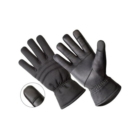 (HANDS ON - LD2316-OSFM, TOUCHSCREEN & WINDSTOPPER Genuine Sheepskin Leather Glove)