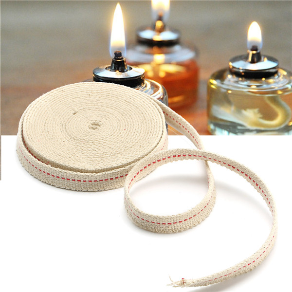 1 2'' Cotton Flat Wick Cotton Fiber Alcohol15 Foot For Oil Lamps and Lanterns by