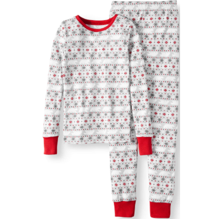 Family PJs Family Sleep Fairisle Cotton Tight Fit Pajamas, 2-piece Set (Little Boys & Big Boys)