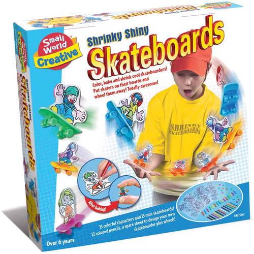 Shrinky Shiny Skateboards