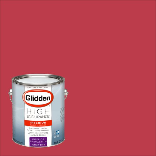 Glidden High Endurance, Interior Paint and Primer, Cherry Red, # 00YR 15/510