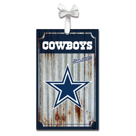 Team Sports America NFL Metal Corrugate Ornament Accessory (Dallas Cowboy Ornaments)
