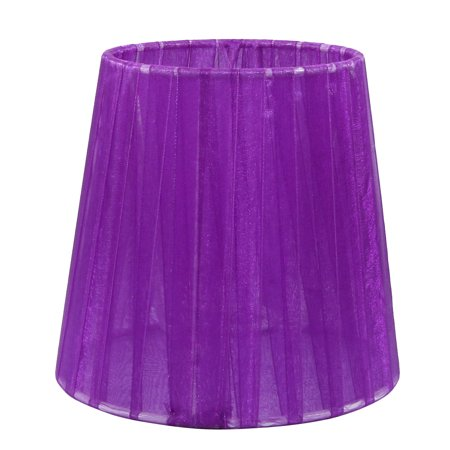 11cm-15cm Dia 14cm Height Cloth Candle Lamp Cover Shade Purple for E14 Lamps