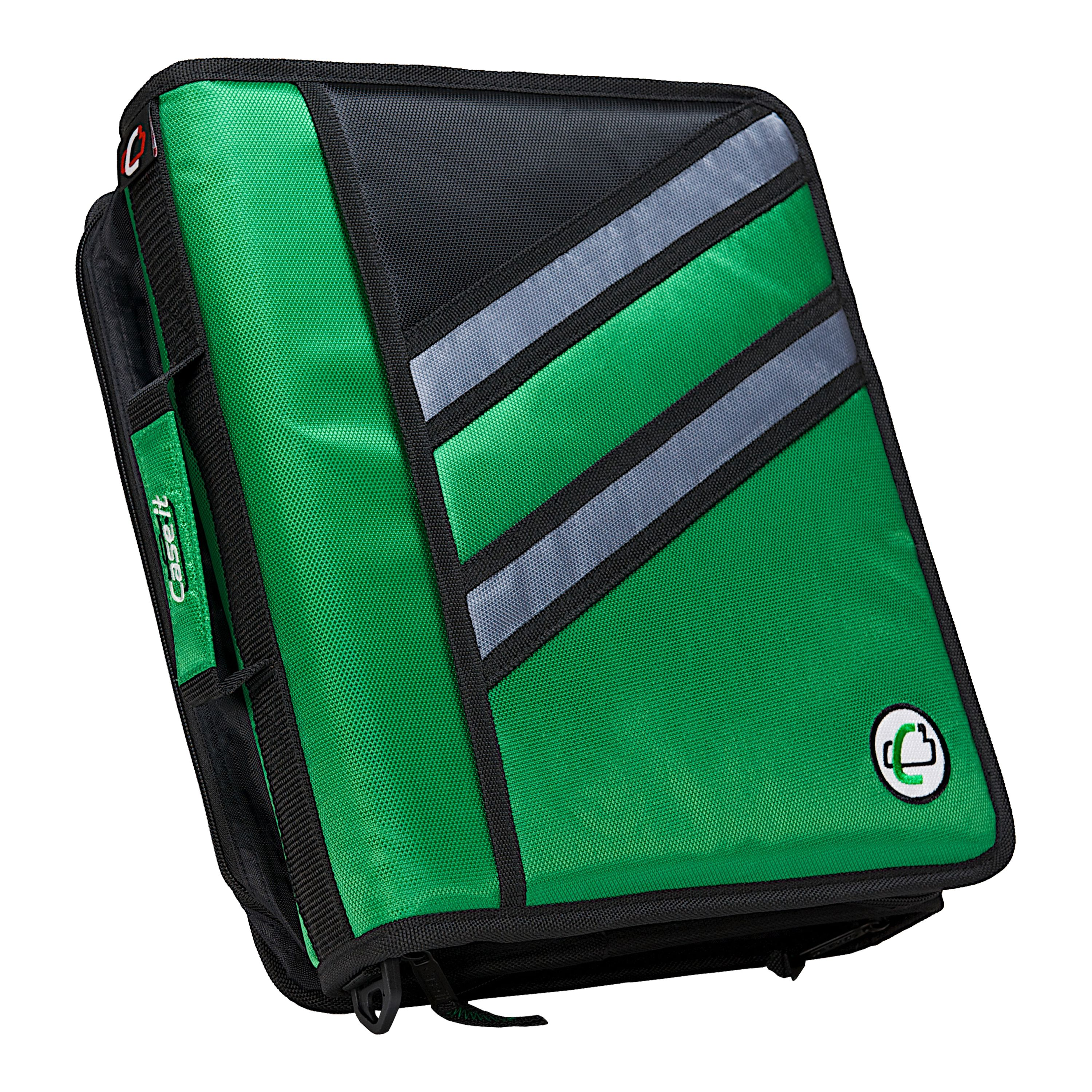 "Case It Z-176 ""Z"" (2) 1.5"" Zipper Binder, 3"" Total Capacity"
