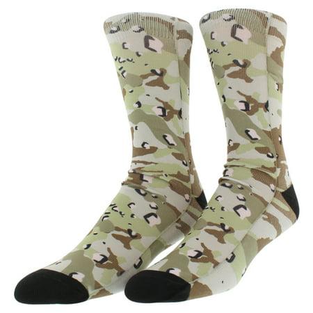Sof Sole Mens Digital Design Sublimated Desert Camo Grey Crew Socks L