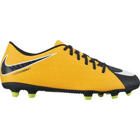 Adidas World Cup Soccer Shoes - Nike HYPERVENOM FADE III FG Mens Laser Orange White Black Volt Athletic Soccer Cleats
