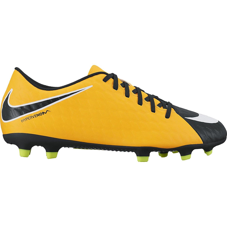 Nike HYPERVENOM FADE III FG Mens Laser Orange White Black Volt Athletic Soccer Cleats