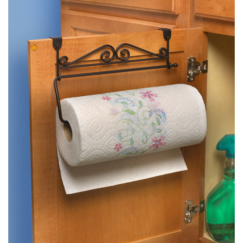 over the cabinet paper towel holder spectrum diversified scroll the cabinet paper towel 24190