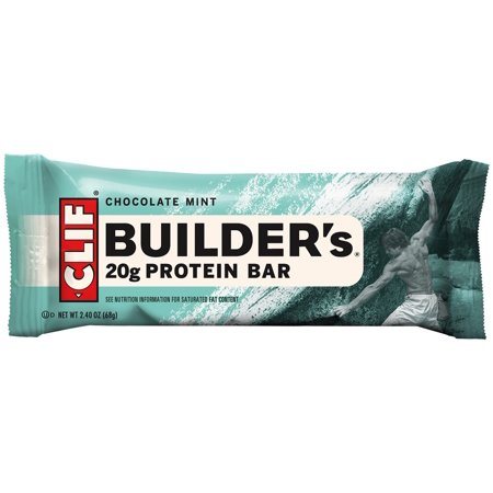 Clif Builder's Bar, 20 Grams of Protein, Chocolate Mint, 2.4 Oz, 12 Ct