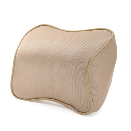 Memory Foam Lumbar Back Support Pillow Car Seat Cushion Black Beige