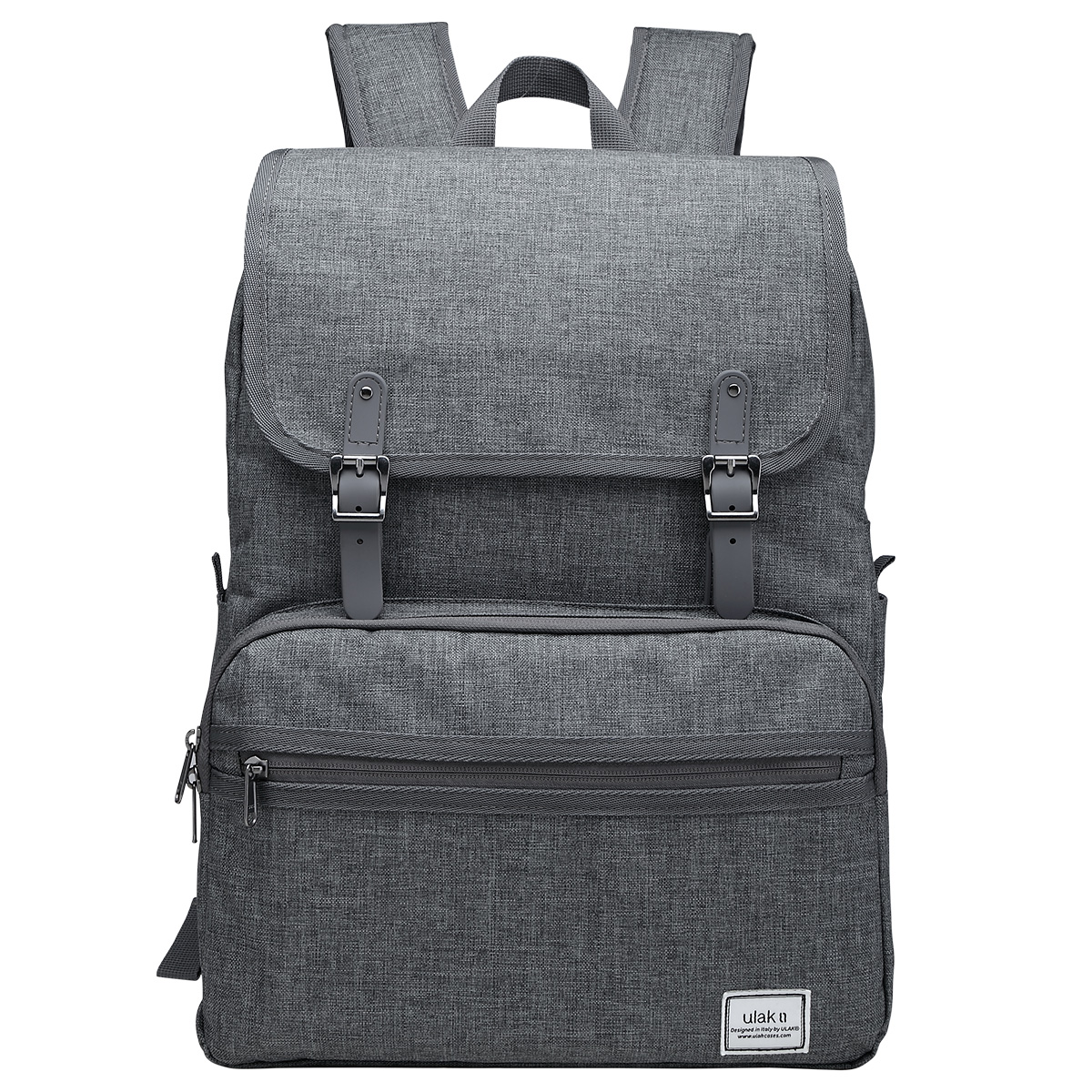 "Business Laptop Backpack, ULAK Slim Anti Theft Computer Bag, Water-resistant College School Everyday Backpack Eco-friendly Travel Shoulder Bag Fits Under 15.6"" Laptop & Note Book- Grey"