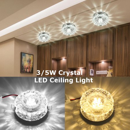 AC85-265V 5W 5730SMD LED Ceiling Light Fixture Modern Pendant Chandelier Romantic Crystal Lamp Light For Living Room Kitchen Bedroom Home Decor ()