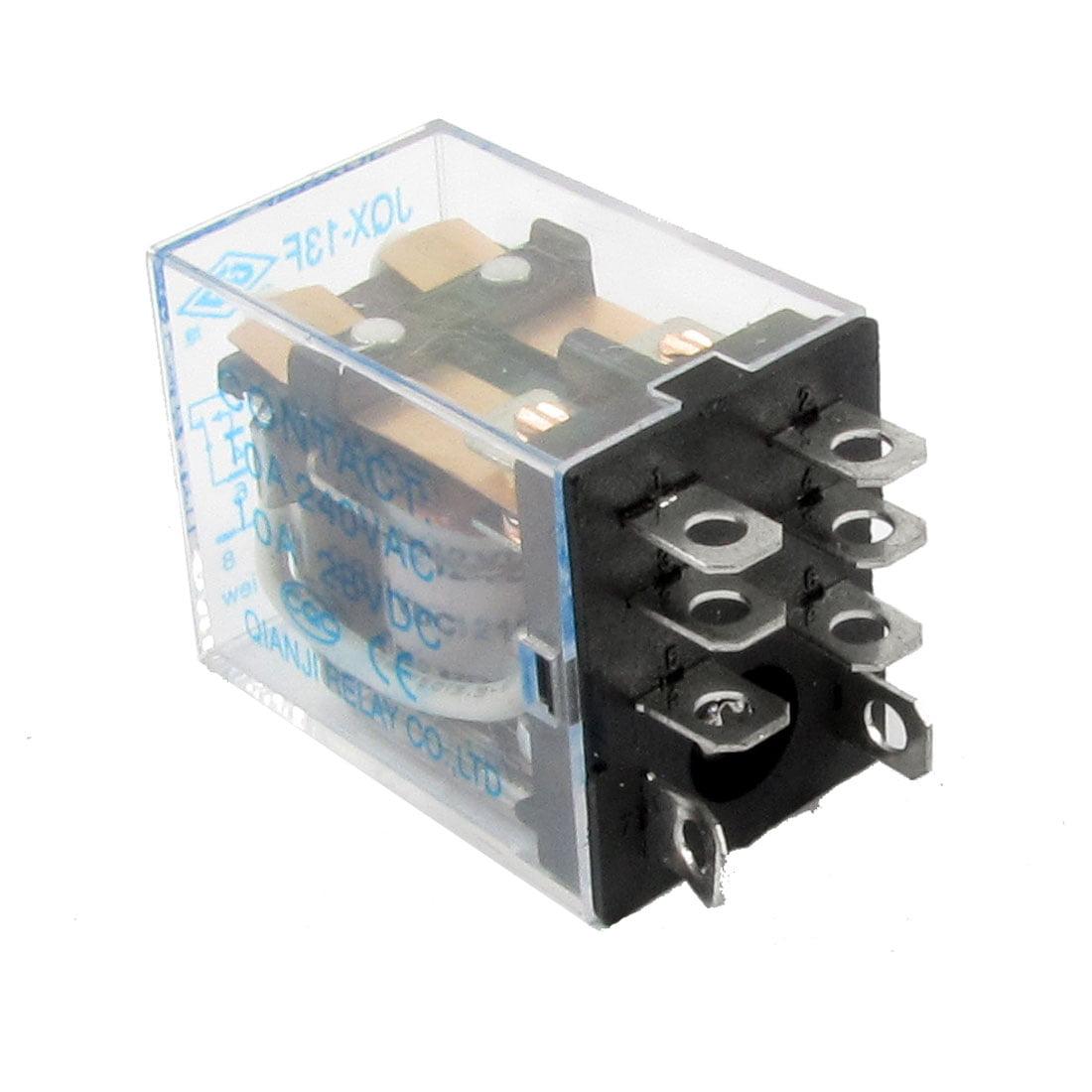 Unique Bargains Dpdt Type Ac240v Dc28v 10a Contact Dc12v Coil Power Relay Description Jqx 13f2z