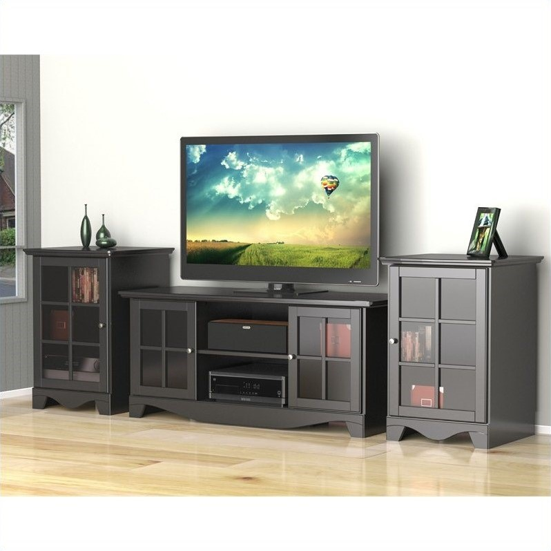 "Nexera Pinnacle 3 Piece 56"" Entertainment Set in White"