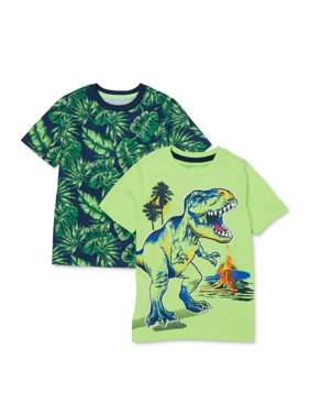 365 Kids from Garanimals Boys 4-10 Mix & Match Dinosaur T-Shirt 2-Piece Multipack