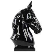 Horse Bust in Black