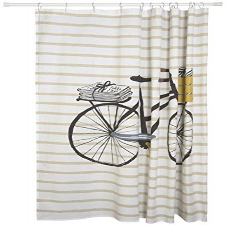 Danica Studio Cotton Shower Curtain Bicicletta Bicycle Print